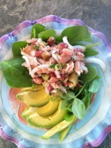 Mixed Bean Tailgate Salad with Tuna