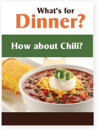 Chili is for Dinner!