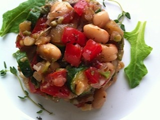 spring bean salad