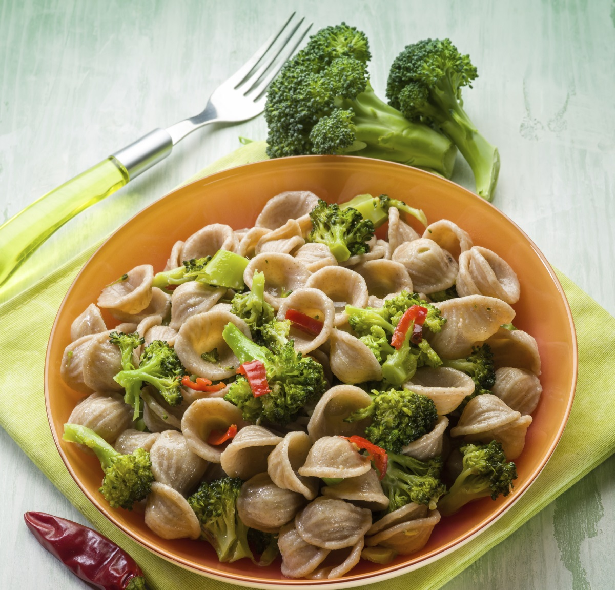 Spicy Orecchiette with Broccoli and Beans