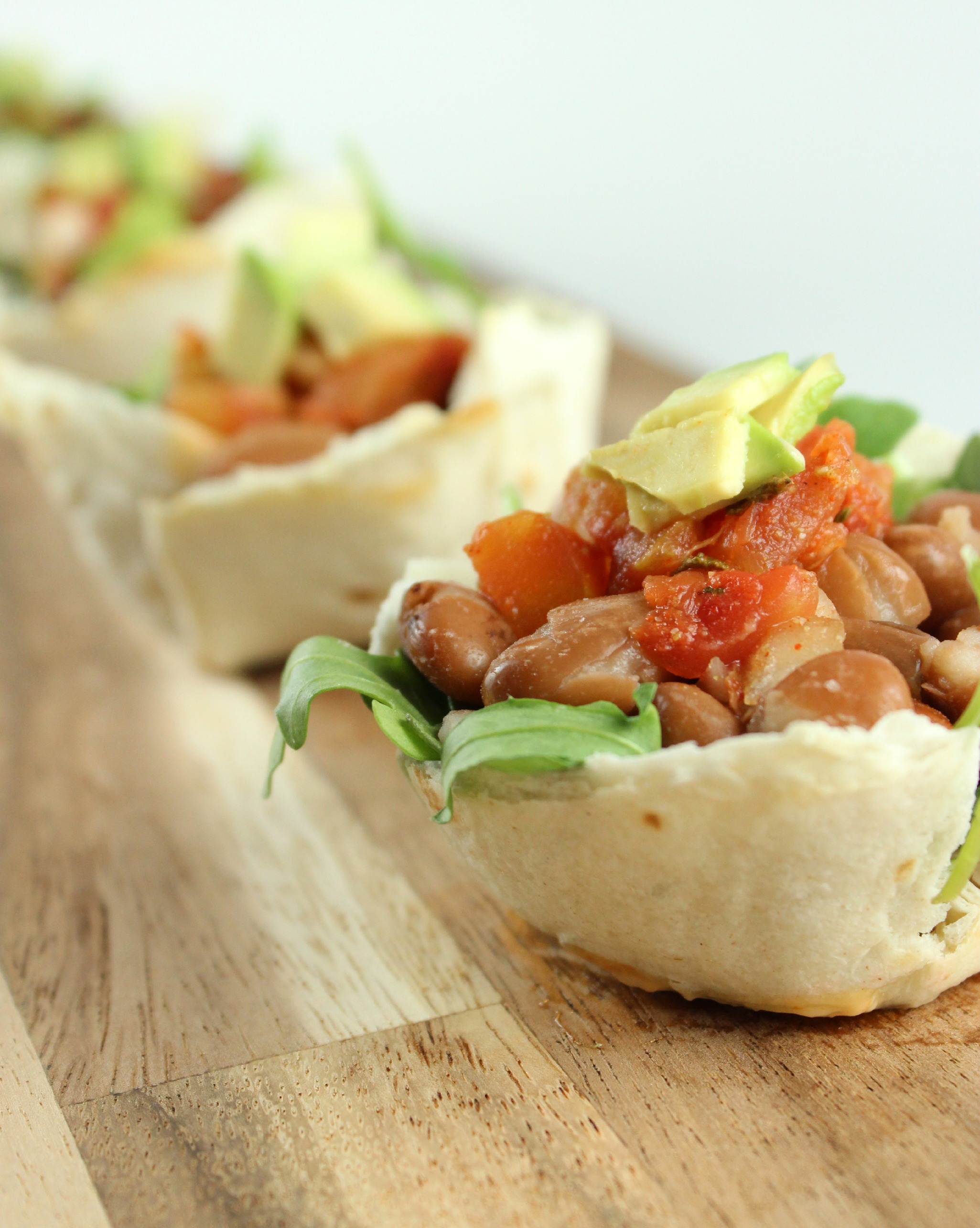 After School Snack Pinto Bean Tortilla Cups