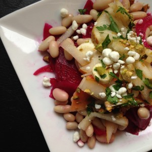 Pickled bean and veggie salad.