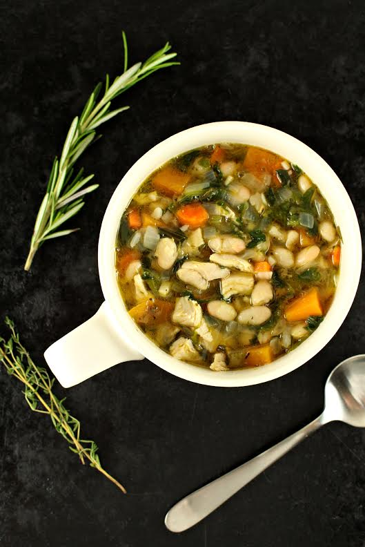 Leftover Turkey Soup with Great Northern Beans