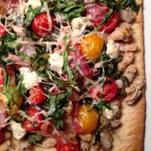 Great Northern White Bean flatbread