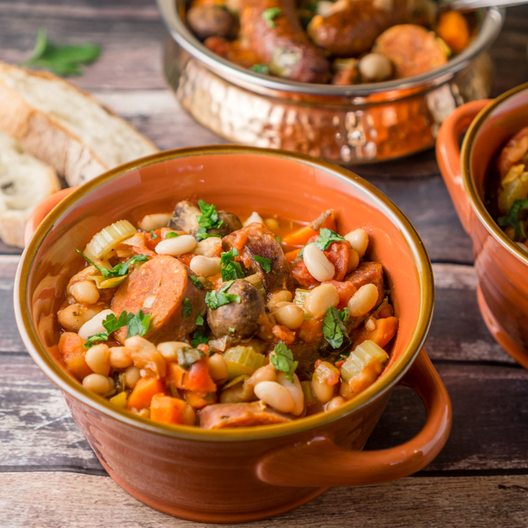 Sausage & White Bean Cassoulet | White Bean Recipe