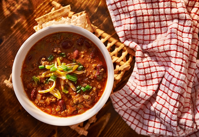 bowl of traditional chili