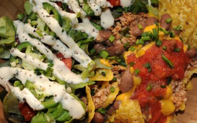 Classic Taco Salad with Pinto Beans