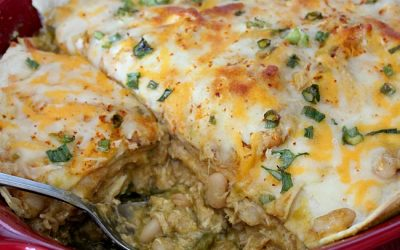 Green Chile Chicken Enchilada Lasagna