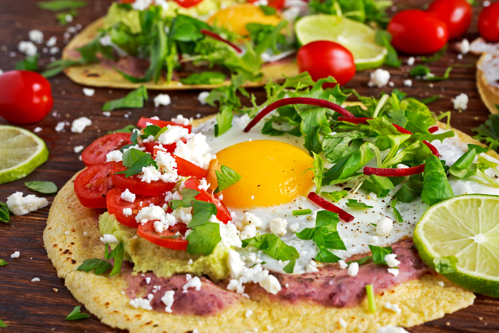 Huevos Rancheros with Refried Beans