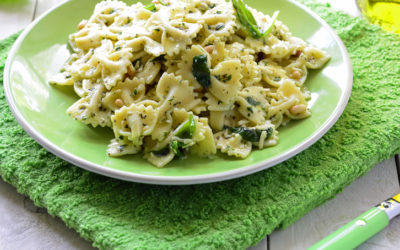 Great Northern Bean Pesto Pasta with Creamy Potatoes