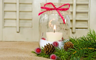 Holiday Crafts with Leftover Jars