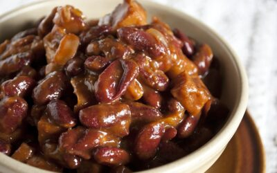 Beer Baked BBQ Ham & Beans