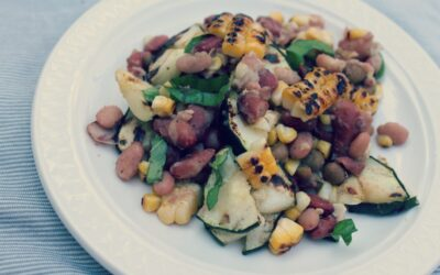 Summer's Bounty Grilled Mixed Bean Salad