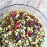 A delicious bean salad with Randall Mixed Beans and fresh corn