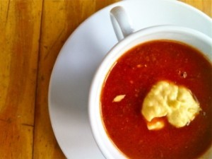 Lobster Bisque with White Bean Sherry Puree