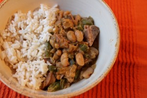 Cajun White Beans with Sausage