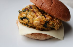 White Bean and Kale Burgers