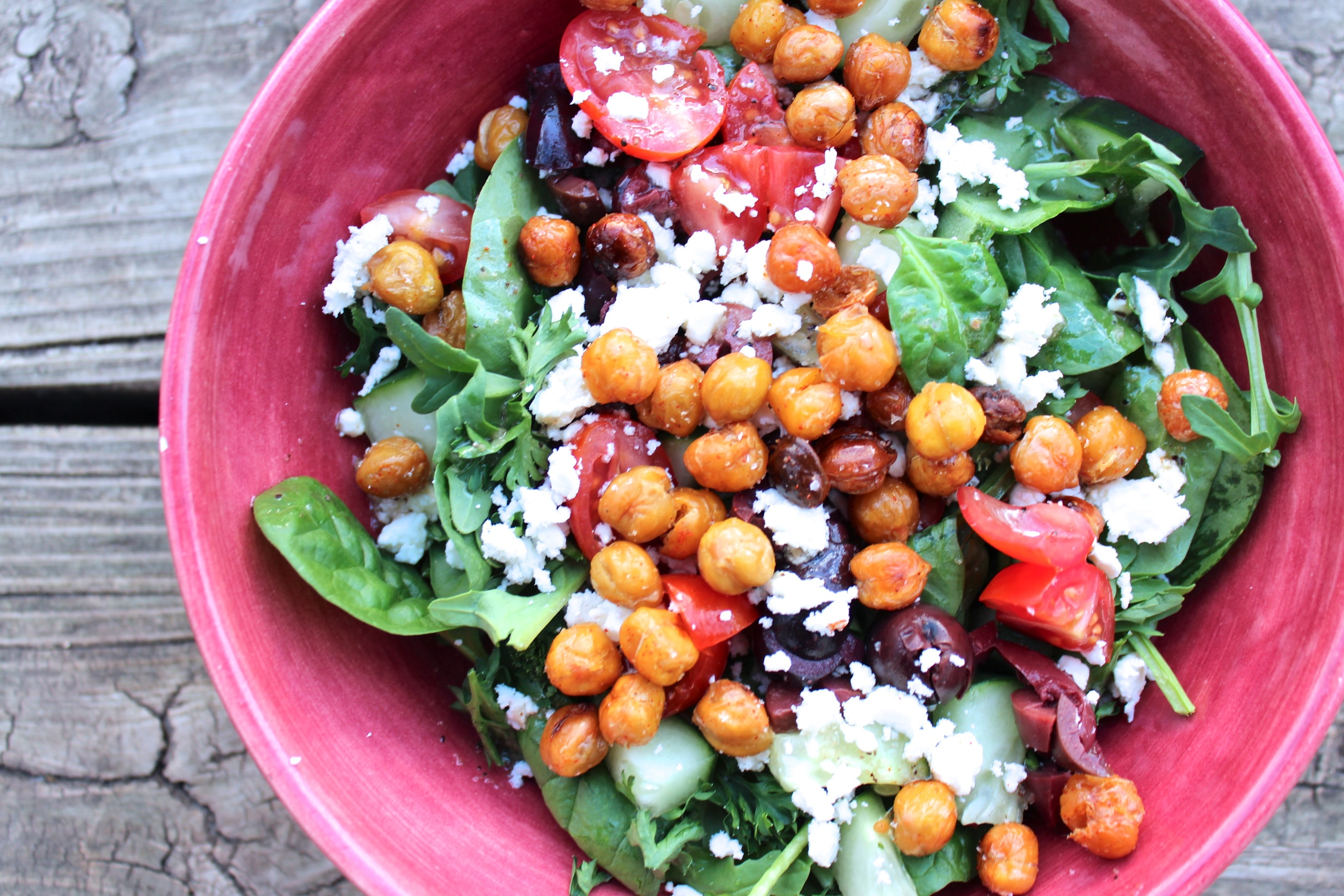 Toasted Garbanzo Bean Salad