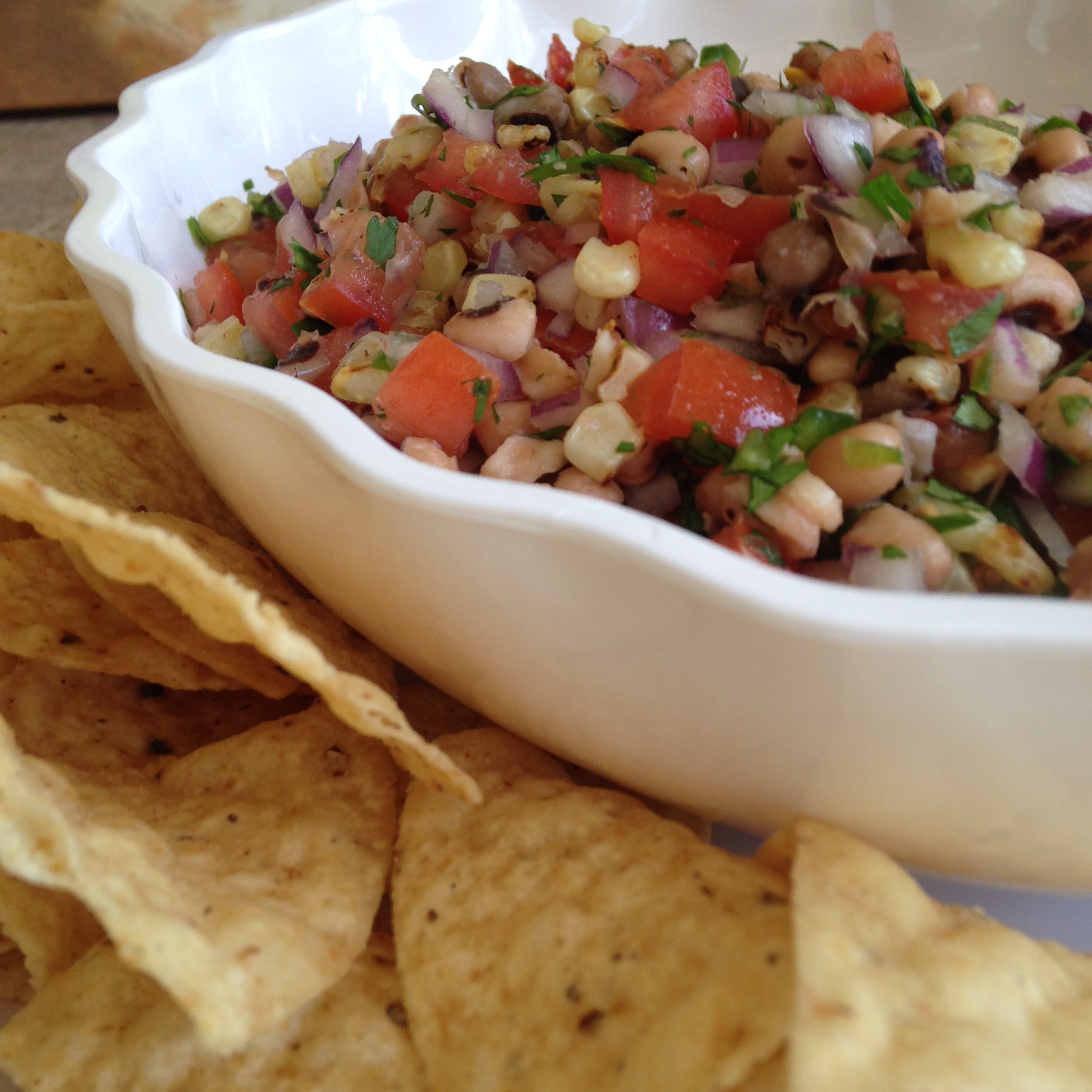 Cinco De Mayo Roasted Corn and Black-eyed Pea Beans Pico