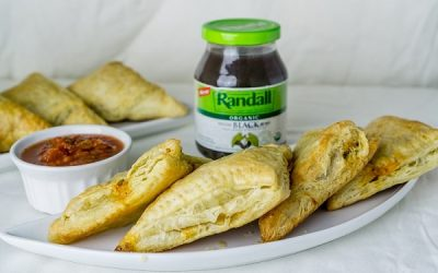 Black Bean Puff Pastry Triangles