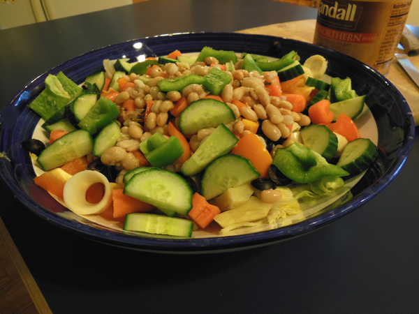 Pantry Salad with Beans
