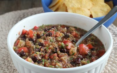 Smoky Black Bean Salsa with Grilled Pineapple