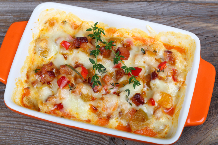 Cheesy Southern Bean and Bacon Casserole