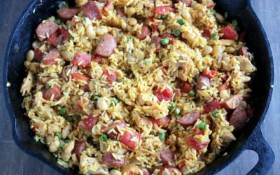 Everyday Sausage & Chicken Paella with Great Northern Beans