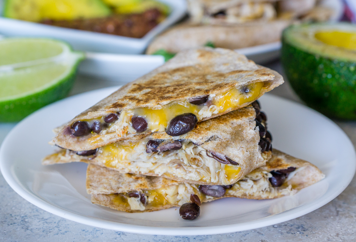 Black Bean Chicken Quesadilla