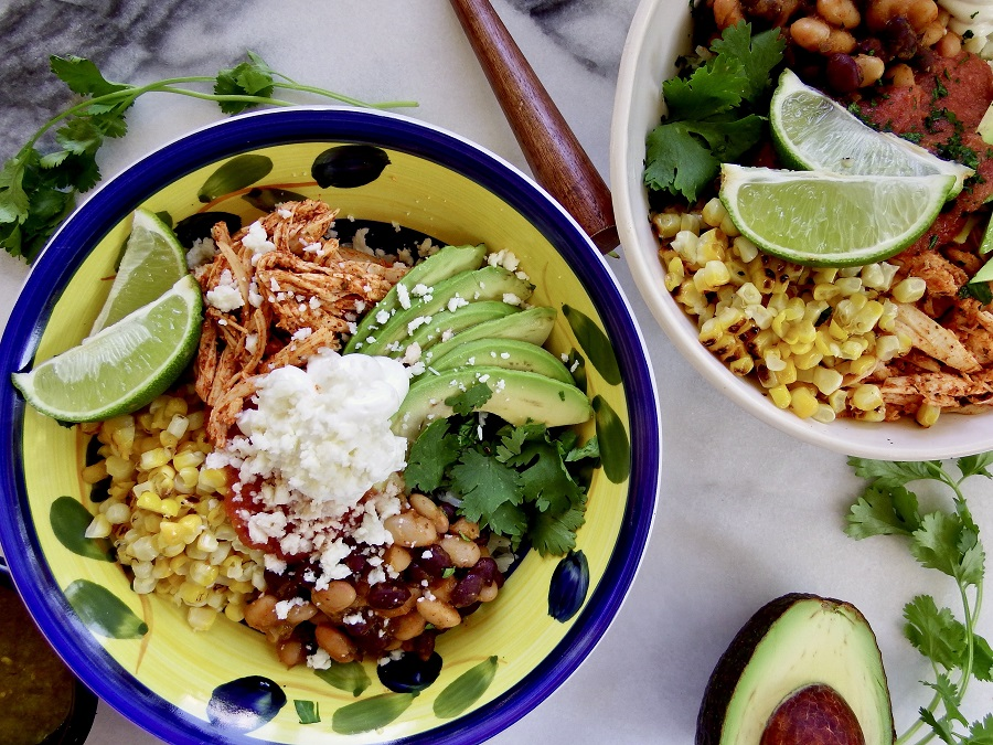 This two bean burrito bowl is great for easy weeknight dinner ideas