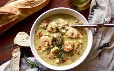 Spicy Shrimp and Corn White Bean Chowder