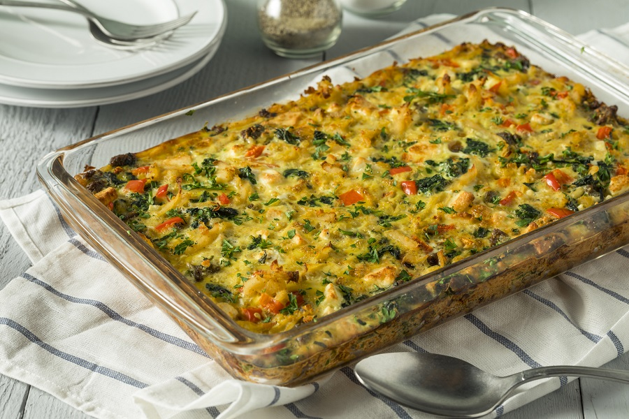 Anytime Vegetable and White Bean Italian Casserole