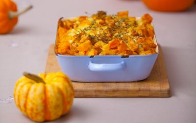 Pinto Bean and Squash Thanksgiving Bread Pudding Stuffing