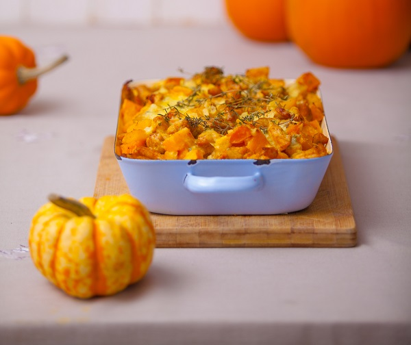 Pinto Bean and Squash Bread Pudding Thanksgiving Stuffing