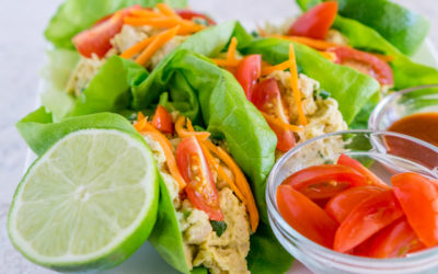 Smashed Chickpea Lettuce Wraps