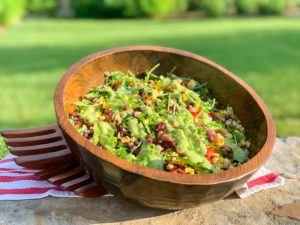 fiesta mixed bean salad served on a summer day