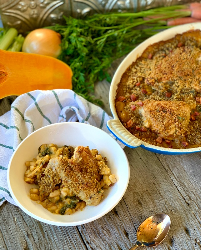 Rustic White Bean and Autumn Vegetable Cassoulet