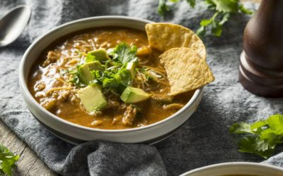 Chicken Taco Soup with Pinto Beans