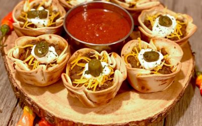 Game Day Taco Pizza Cups