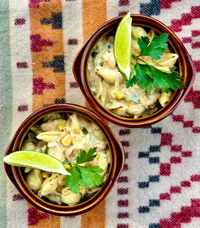 Creamy White Chicken Chili Mac