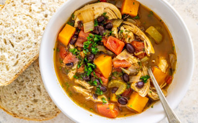 Black Bean Sweet Potato Chicken Stew