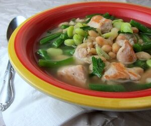 20-Minute Pork Three-Bean Soup