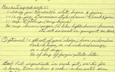 Recipes From You: Dorothy's White Bean Casserole